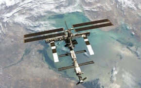 Картинка Earth, ISS, Space Station, Orbit