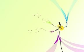 Обои минимализм, птица, дизайн