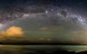Обои Атлантический океан, звезды, Млечный Путь
