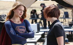 Картинка Сериал, Comics, DC Comics, Supergirl, Kara Zor-El, Melissa Benoist, Мелисса Бенойст, Супергёрл, Kara Danvers, Кайлер ...