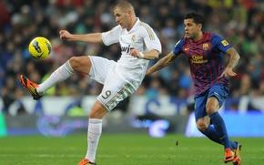 Картинка Barcelona, Real Madrid, El Classico, K.Benzema, D.Alves