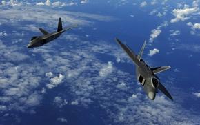 Обои самолёта, два, полёт, военых