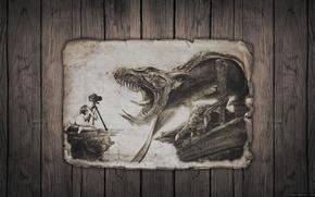 Картинка girl, fantasy, camera, dragon, fabtasy, phographer