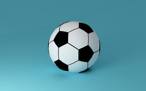 Картинка футбол, спорт, мяч, минимализм