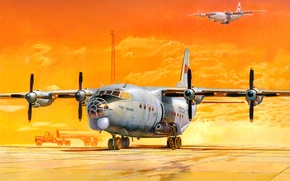 Обои рисунок, арт, Ан-12БК