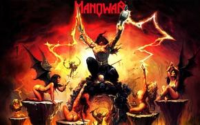 Картинка воин, гарпии, heavy metal, Manowar