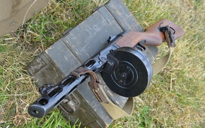 Обои ППШ, Пистолет-пулемёт, Шпагина, ящик