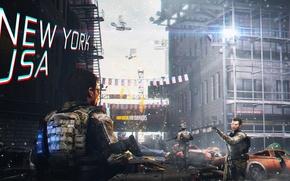Картинка улица, солдаты, art, rendering