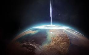 Картинка energy, planet, destruction, sci fi, collision