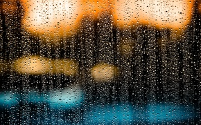 Картинка стекло, капли, дождь