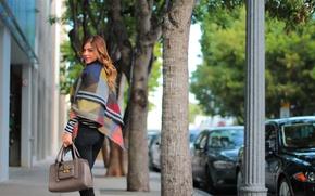 Картинка девушка, город, street style