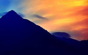 Картинка небо, пейзаж, гора