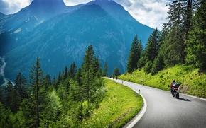 Обои alps, альпы, италия, швейцария, дорога