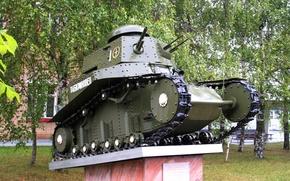 """Картинка танк, Россия, серийный, первый, советский, лёгкий, пехотный, Кубинка, 'МС-1"""", """"Малый сопровождения"""", Т-18"""