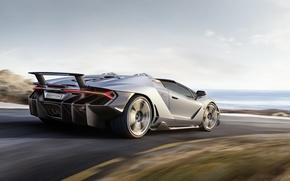 Картинка Roadster, Lamborghini, скорость, ламборгини, дорога, speed, Centenario, car, авто, небо