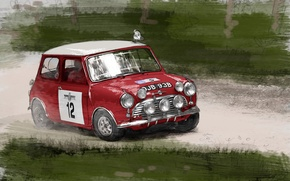 Обои рисунок, Мини Купер, Mini Cooper, Автомобиль