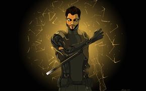 Картинка games, deus ex: human revolution, fan art, adam jensen