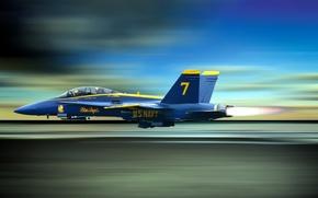 Обои blue angels, авиация, самолёт