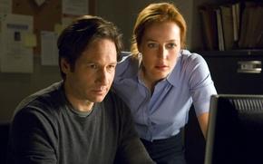 Обои Gillian Anderson, Хочу верить, Секретные материалы, I Want to Believe, David Duchovny, The X-Files, фильм