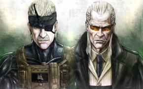 Картинка Solid Snake, Metal Gear Solid 4: Guns of the Patriots, Konami, Revolver Ocelot, Liquid Ocelot