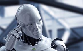 Картинка робот, рука, голова, hi-tech