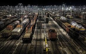 Картинка ночь, вагоны