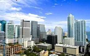 Картинка лето, здания, дома, Майами, Флорида, Miami, florida, vice city
