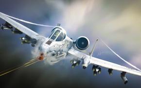 Картинка авиация, арт, штурмовик, самолёт, A-10, Tankbuster