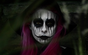 Картинка глаза, взгляд, девушка, лицо, волосы, грим