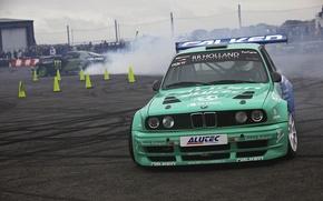 Обои Gymkhana, drift, BMW, e30, Falken