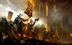 Картинка Битва, Фэнтези, Fantasy, Guild Wars 2, Online, MMO, Battle, GW2, Войны гильдий, World vs World, ...
