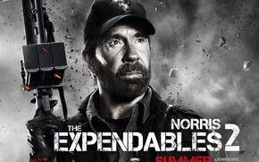 Обои The Expendables 2, Booker, Chuck Norris, Чак Норрис, Неудержимые 2