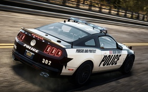 Картинка Mustang, Ford, Shelby, Need for Speed, nfs, police, 2013, Rivals, NFSR, нфс