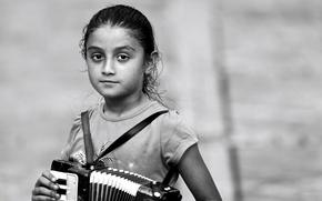 Картинка девочка, аккордеон