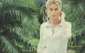 Картинка блондинка, girl, рубашка, woman
