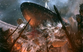 Обои корабль, Авария, 151, плотина