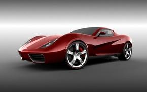 Картинка Corvette, Chevrolet, красная, Design, Z03, UgurSahin, тачила