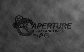 Картинка краска, механизм, portal, game, серый фон, steam, aperture laboratories
