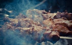Картинка еда, мясо, вкуснятина, шашлык, шампуры, машлык