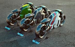 Картинка мотоцикл, лотус, bike, рендер, Lotus C-01
