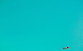 Картинка вода, лодка, минимализм
