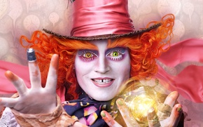 Картинка 2016, Alice Through the Looking Glass, Джонни Депп, Johnny Depp, Алиса в Зазеркалье, Mad Hatter