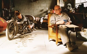 Картинка фон, фильм, мальчик, мужчина, Энтони Хопкинс, The World's Fastest Indian, Самый быстрый Индиан, Anthony Hopkins, …