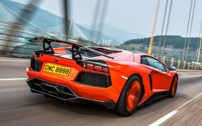 Картинка движение, тюнинг, Lamborghini, вид сзади, Molto Veloce, Aventador LP900-4