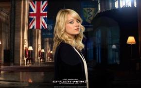 Картинка Emma Stone, Эмма Стоун, Gwen Stacy, The Amazing Spider-Man 2, Новый Человек паук: Высокое напряжение