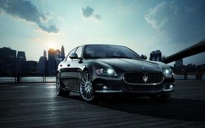 Обои солнце, утро, Maserati, Нью-Йорк, Quattroporte Sport GT S