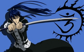 Картинка взгляд, меч, аниме, парень, D. Gray-man