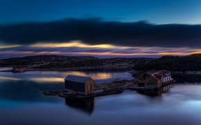 Картинка море, ночь, Норвегия