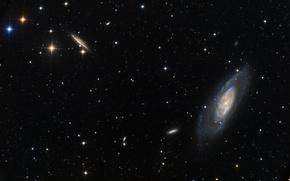 Картинка галактика, Гончие Псы, в созвездии, M 106