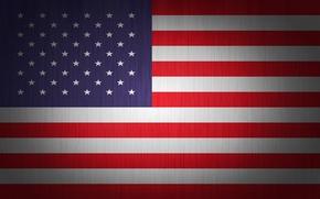 Картинка белый, красный, полосы, флаг, США, U.S.A., соединённых штатов америки